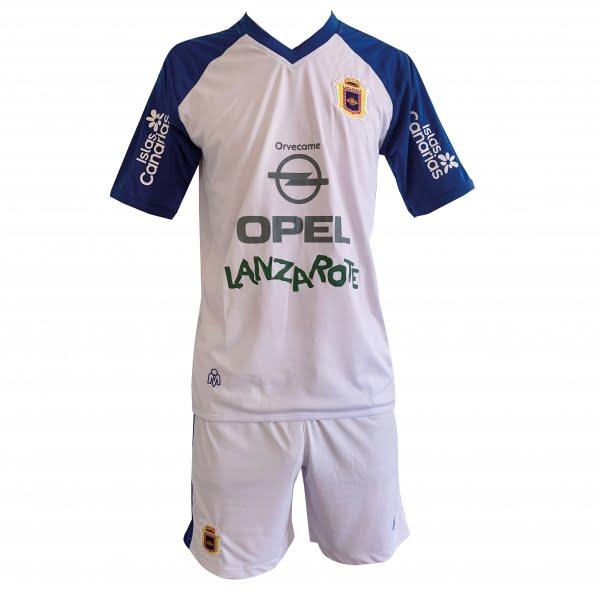 Lanzarote Football white shirt shorts