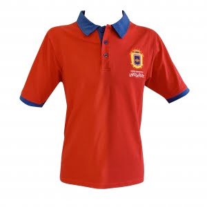 Lanzarote Football red polo