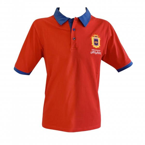 Lanzarote Football red polo